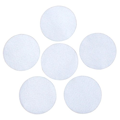 """White Adhesive Felt Circles: Variety of Sizes: 2"""", 3"""", 4"""" or 5' Wide; Die Cut Felt Stickers for DIY Projects & Professional Craft Finishing (Single Package of 20, 3 Inch Circles)"""