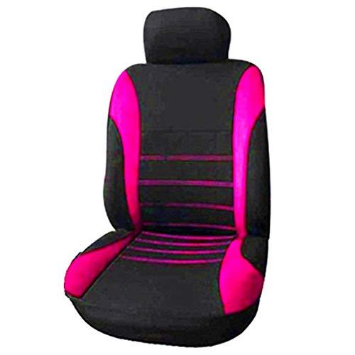 Baalaa Fundas para Asientos Delanteros para el AutomóVil Funda para Asiento Deportivo Tipo Cubo para Airbag Frontal, Juego de 2 Piezas Fundas para Asientos de AutomóViles (Negro + Rosa)