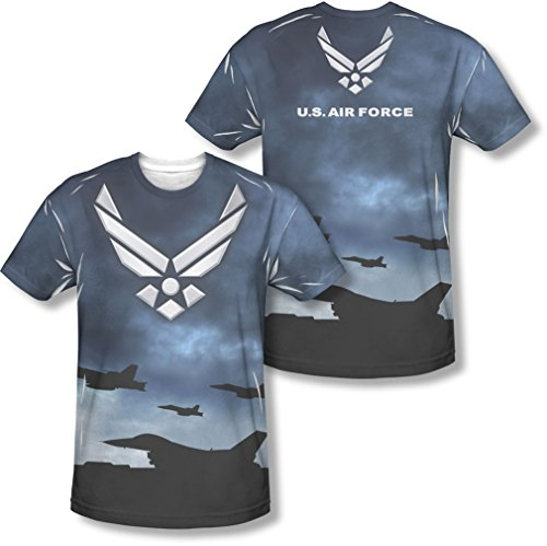 Air Force - - Hommes Take Off (Front / Back Imprimer) T-shirt, X-Large, Sublimate White