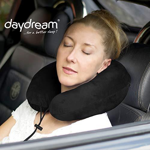 daydream PREMIUM-Reise-Nackenkissen mit Memory Foam, verschiedene Farben (N-5401),Nackenhörnchen, Reisekissen, Nackenstützkissen