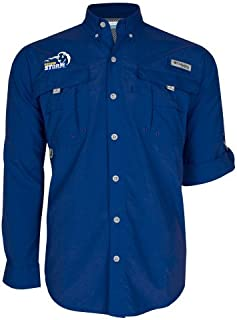 Southeastern Oklahoma State Columbia Bahama II Royal Long Sleeve Shirt 'New Primary Logo Embroidery'