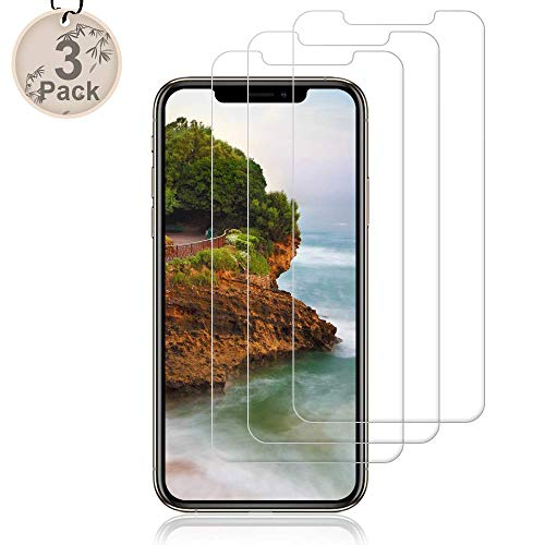 Pal-Xiboe for iPhone XS/X/iPhone 11Pro Screen Protector [3-Pack] Premium Tempered Glass 9H Hardness Film Super Easy Apply for iPhone XS/X/iPhone 11 Pro[5.8 Inch]