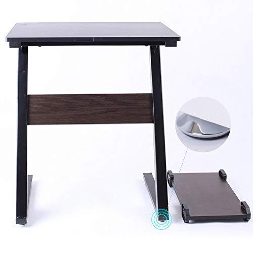 Laptop-Computer steht tragbare stehende Schreibtisch Lapdesks Mehrzweck senden den Hauptrahmen kreative Holzwerkstoffe, 2 Farben und Spezifikationen 60x40x70CM (Farbe: Ebenholz, Größe: Fußauflage)