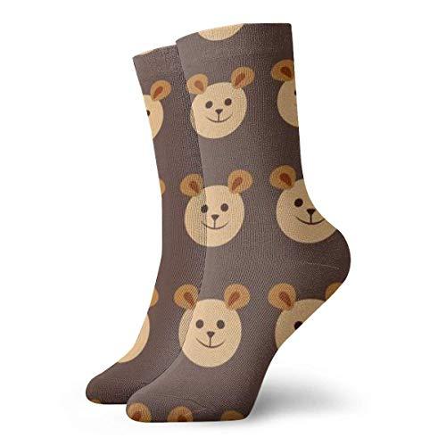 Dydan Tne Coole gemusterte Kleidersocken, Teddybär-Tier-Cartoon-Socken für Männer Frauen