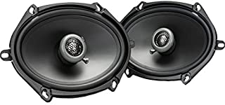 MB Quart FKB168 Formula Car Speakers (Black, Pair) – 5x7-6x8 Inch Coaxial Speakers, 50 Watt, 2-Way Car Audio, Internal Cro... photo