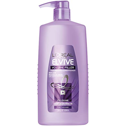 L'Oral Paris Elvive Volume Filler Thickening Conditioner, for Fine or Thin Hair, Conditioner with Filloxane, for Thicker Fuller Hair in 1 Use, 28 fl. oz.