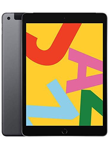 Apple iPad (10.2-Inch, Wi-Fi + Cellular, 128GB) - Space Gray (Latest Model) (Renewed)