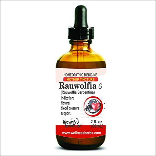 Heavenly Herbals Pure Rauwolfia Serpentina Mother Tincture, Natural Sleep Aid Organic, Ayurvedic, Herbal Blood Pressure Supplement - Sarpagandha Indian Snakeroot for Anxiety, Stress,Insomnia Relief