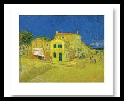 Póster de la casa amarilla de Van Gogh, Holz Rahmen in Buche schwarz