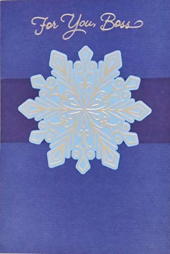 For You Boss - Hope You Know How Much You're Appreciated In This Season and All Year Long - Happy Holidays Greeting Card Christmas Hanukkah