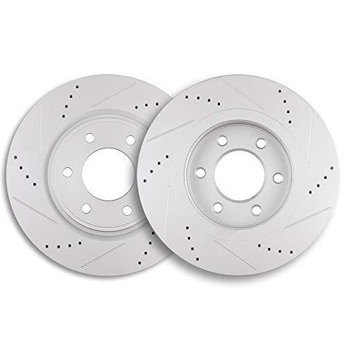 Brake Rotors,ECCPP 2pcs Front Brake Discs Rotors...