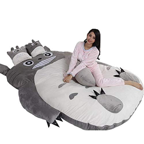 Zhenwo Cartoon Art Totoro Mattress, Soft, Thick, Comic Style, Tatami Dormitory, Mattress, Dick, Sofa, Super Soft, Sofa Bed,G