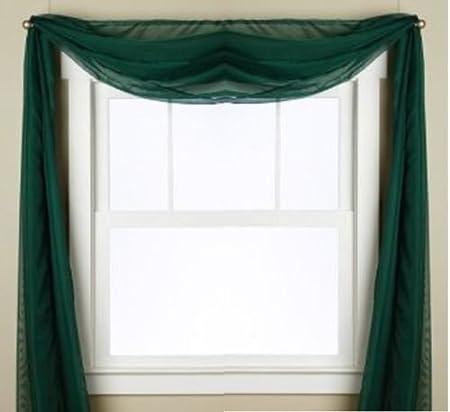 Floral Scarf Curtain Drape Panel Sheer Voile Door Window Valances Decoration HO3