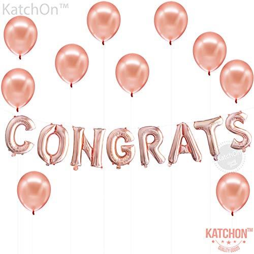 Congratulations Balloons Rose Gold Decorations