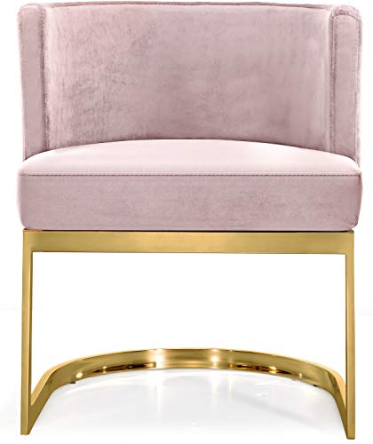 Blue Rivet Eastern Modern Dining Room Kitchen Chairs Set of 2 Bronze Metal 32 Inch Height Velvet