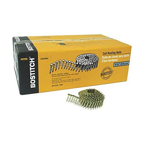 Stanley Bostitch CR5DGAL 1-3/4-Inch Coil Nail, 7200-Pack