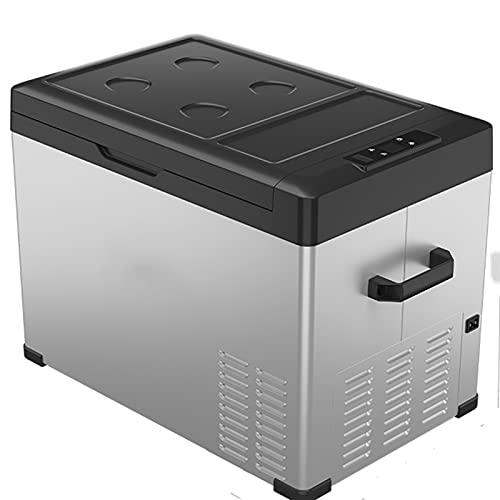 40L Portable Car Fridge Freezer Electric Cool Box For Car, Mini Refrigerator, 12/24v Car Refrigerator Portable Camping Fridge, Low Consumption 0723 (Color : Silver)