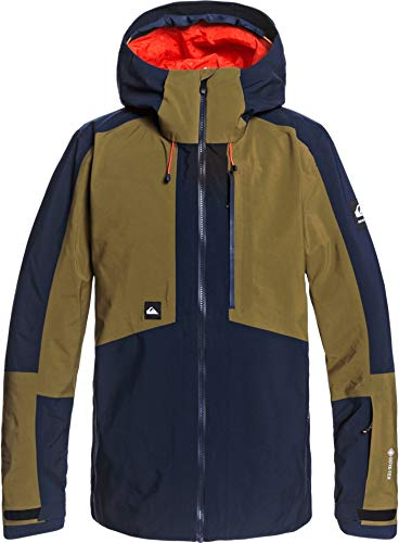 Quiksilver Forever 2L Gore-Tex Snowboard Jacket Mens Sz S Military Olive
