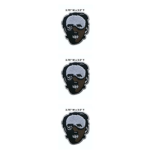 Application classique Halloween Friday the 13th Hannibal Lecter Cosplay badge brodée fer ou Sewn-on Applique Patch 3-pack Ensemble cadeau