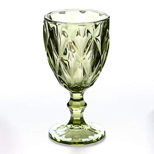 Copa De Vino Tinto Copa De Jugo En Relieve Vintage Bebida De Jugo Champán Vasos Surtidos 300Ml__Hcopas De Vino Tinto