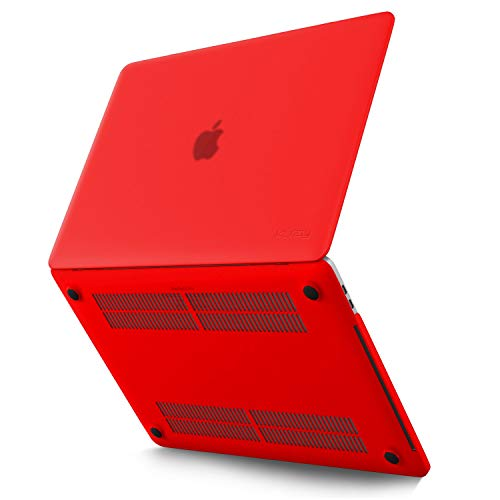 Kuzy MacBook Pro 13 inch Case 2020 2019 2018 2017 2016 Release A2338 M1 A2289 A2251 A2159 A1989 A1706 A1708, Non-Slip, Fully Vented Plastic Hard Shell MacBook Pro Case with Touch Bar, Red