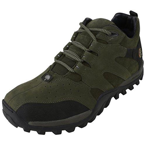 Woodland Men's Olive Green Nubuck Leather Boots - 10 UK/India (44 EU) (GC 0232106W13_Nubuk)