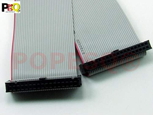 POPESQ® - IDC Kabel/Cable 34 polig (2X 17) cca. 50 cm / 0.5 m lang/Long, Flachbandkabel Ribbon #A1328