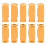 iplusmile 10 Piezas de Alfombrilla de Mano de Muleta Cojines de Muleta de Repuesto Agarraderas de Muleta de Fácil Aplicación Accesorio de Muleta Amarillo
