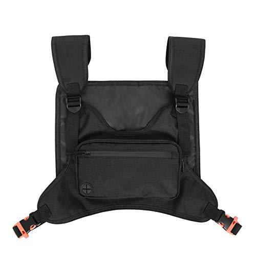 lingzhuo-shop borsttas waterdichte diefstalbeveiliging zwart voor mannen sport modieuze multifunctionele sportrugzak nylon borsttas voor mannen vrouwen 21,5 x 12 cm
