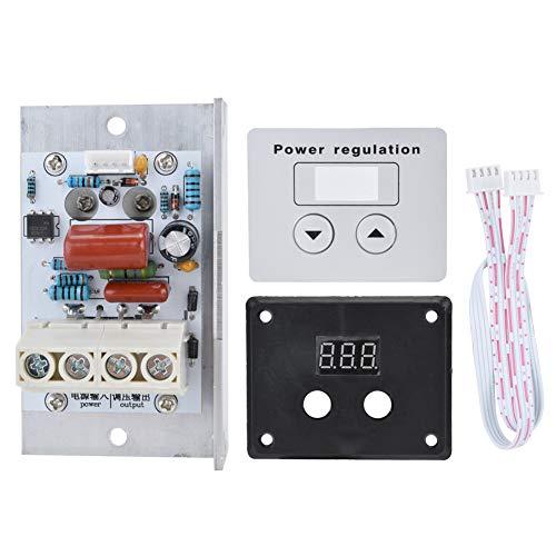 Regulador de voltaje, 10000W SCR Regulador de voltaje digital Control de velocidad Termostato de atenuación AC 220V 80A
