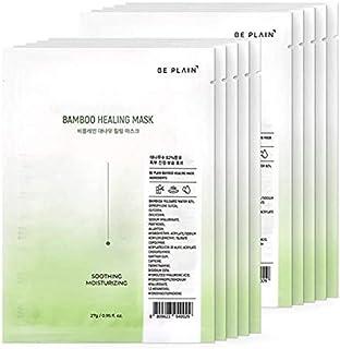 [BE PLAIN] Bamboo Healing Mask Set van 10 gezichtsmaskers - Gezichtsmaskers, Koreaanse hydraterende en kalmerende gezichts...