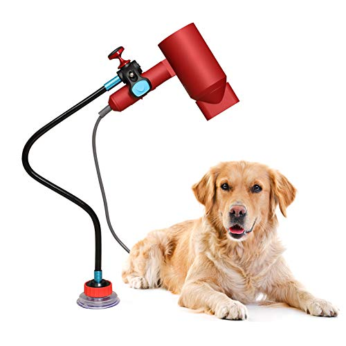 PetsBark Dog Pet Grooming Table Hair Dryer Stand,Hands Free Blow Dryer Holder, Phone Stand Holder,Stainless Steel 360 Degree Rotating Lazy Hair Dryer Stand Holder Countertop with Suction Cup.Black