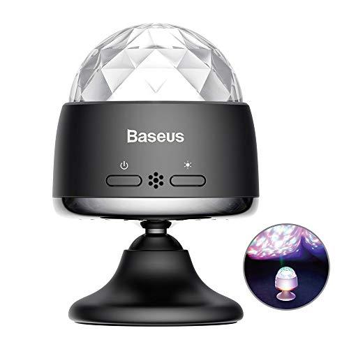 Baseus Car Crystal Magic Ball Licht Lampe Party Deko LED RGB - beleuchtet den Rhythmus der Musik Auto PKW LKW Bar Bühne Hochzeit Wohnzimmer Schlafzimmer usw.