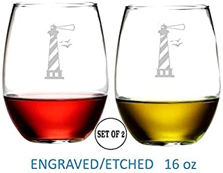 Best lighthouse wine glasses Reviews
