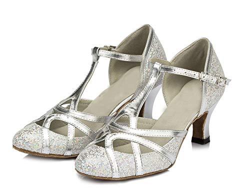 Minitoo , Damen Tanzschuhe, Silber – silber – Größe: 40 - 2