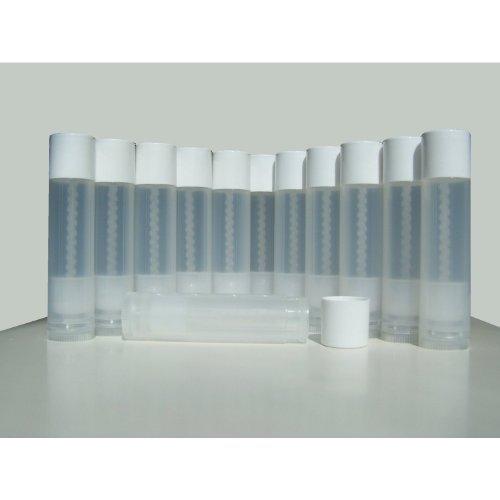 50 Lip Balm Empty Container Tubes 3/16 Oz (5.5ml), Natural (Translucent) Color
