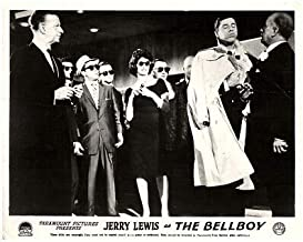 The BELLBOY Original Lobby Card Jerry Lewis Trench Coat People Sunglasses 1960
