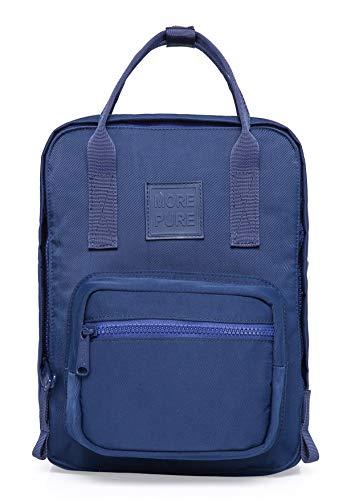 MORE PURE MINI Kleine Rucksack Geldbörse, Passend für 10-Zoll iPad, 30x22x12.6 cm, Marine