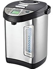 Thermopot 5 liter | roestvrij staal warmwaterdispenser | waterkoker | dispenser | thermoskan | theekoker | 24 uur timer | LCD-display | kinderbeveiliging (5 liter)