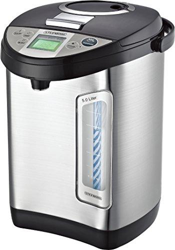 Thermopot 5 Liter | Edelstahl Heißwasserspender | Wasserkocher | Wasserspender | Dispender | Thermoskanne | Teekocher | 24 Stunden Timer | LC-Display | Kindersicherung (5 Liter)