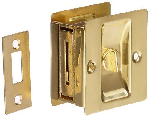 Rockwood 891.3 Tür-Sicherungsriegel, Messing, 6,3 cm breit x 6,4 cm hoch, poliertes Finish
