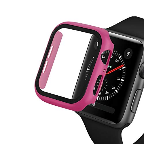 JWWLLT Cubierta de Reloj para Apple Watch 5/4 40mm 44mm Case PC PC Bumper Protector de Vidrio Película para IWATCH Series 3/2 38mm 42mm Funda de Cubierta