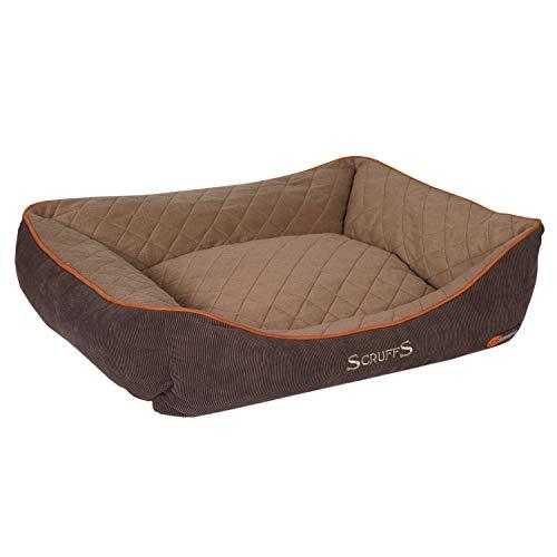 Scruffs Thermal Box Bed, 78 cm x 66 cm x 21 cm, Brown