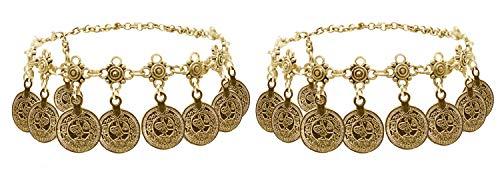 Bienvenu Boho coin sandals Anklet Bracelet, Bohemian Tassel Barefoot Sandals Chain Jewelry Belly Dance Anklet