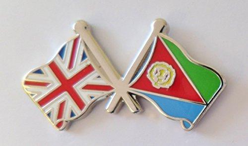1000 drapeaux de l'Érythrée et drapeau du Royaume-Uni