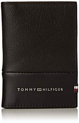 Tommy Hilfiger - Textured Bifold, Carteras Hombre, Negro (Black), 0.1x0.1x0.1 cm (W x H L)