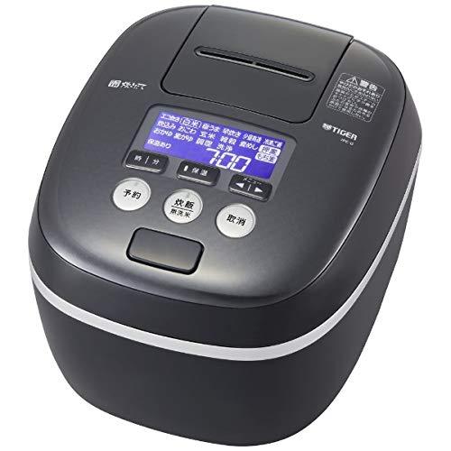 タイガー 圧力IH炊飯ジャー(5.5合炊き) モスブラックTIGER 炊きたて 360°design JPC-G100KM