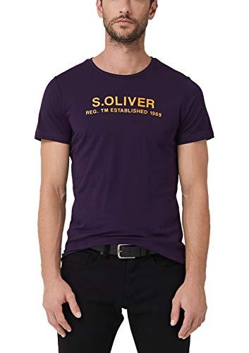 s.Oliver Herren 13.909.32.7972 T-Shirt, Violett (Dandy Lilac 4866), Medium (Herstellergröße: M)