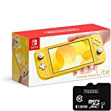 """Newest Nintendo Switch Lite - 5.5"""" Touchscreen LCD Display, Built-in Plus Control Pad, iPuzzle 128GB SD Card, Built-in Speakers, 3.5mm Audio Jack, 802.11 a/b/g/n/ac, Bluetooth 4.1, 0.61 lbs - Yellow"""
