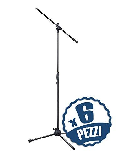 Set di 6 Aste Microfoniche a Giraffa Regolabili